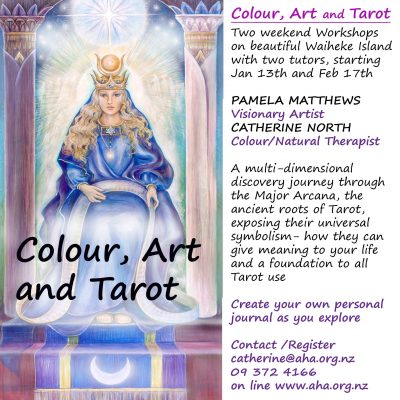 Colour, Art & Tarot - workshop with Catherine North and Pamela Matthews