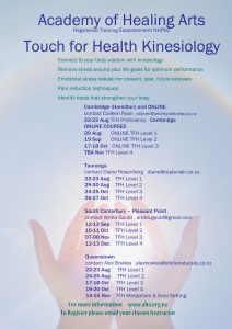 Touch for Health Online Courses