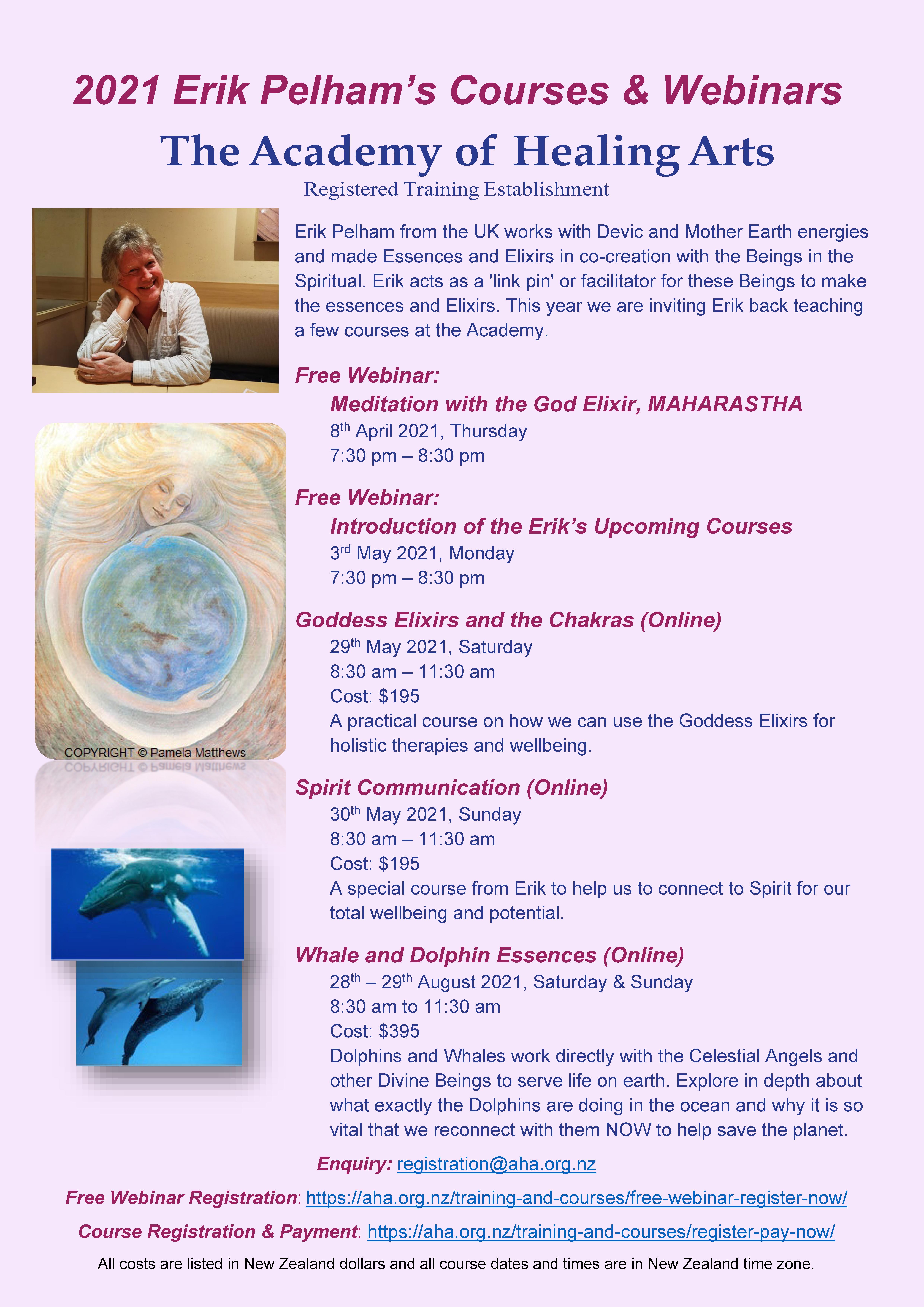 A2021 Erik Pelham's Courses and Free Webinars