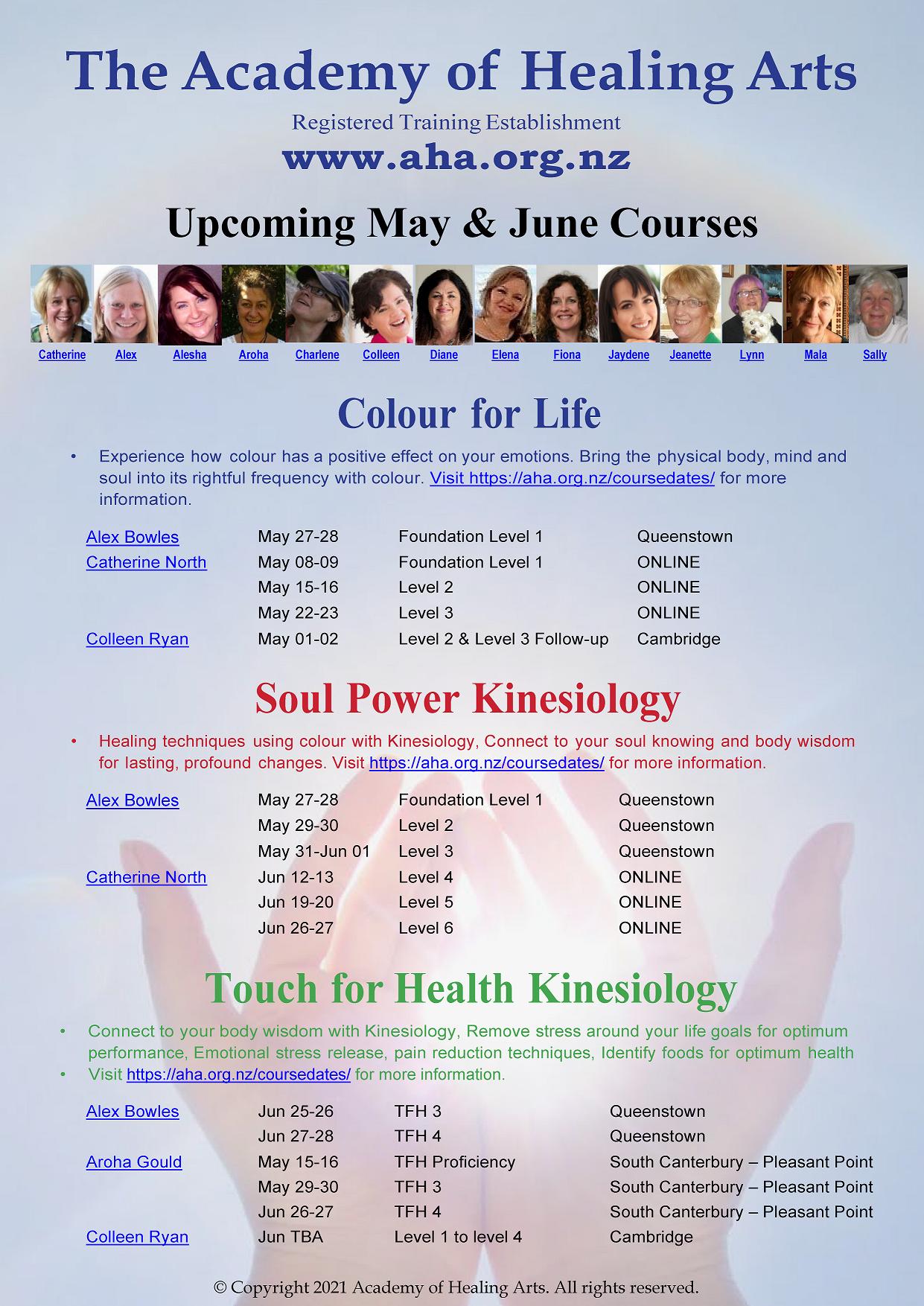 AHA Upcoming May & June Courses
